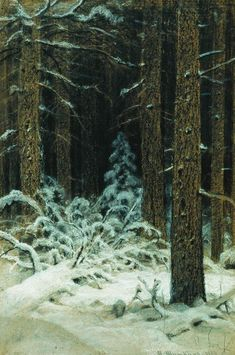In winter (1883) - Ivan Shishkin