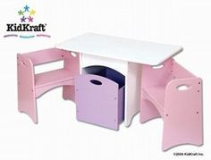 Charmant Kidkraft Table With Pastel Benches 26162