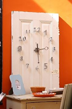 Turn a door into a clock