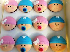 adorable baby shower cupcakes from Dessert Girl Catering
