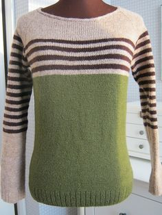 Ravelry: Project Gallery for ravello pattern by Isabell Kraemer Hand Knitted Sweaters, Sweater Knitting Patterns, Knit Patterns, Clothing Patterns, Baby Knitting, Diy Pullover, Pullover Rock, Mens Fashion Sweaters, Ravelry