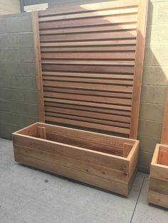 Cedar planter and trellis.
