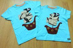 Piratillas!! Camisetas para niños. Barco pirata