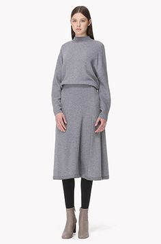 [TIME] Oversized top wool cashmere knit dress