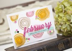 February Birthdays Card by Ashley Cannon Newell for Papertrey Ink (February 2014)