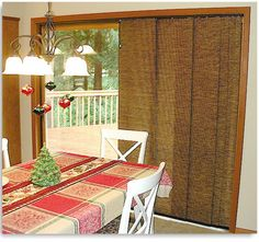 sliding glass door curtains want a version of these for the back door