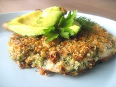 Crispy Nut and Herb Fried Chicken with Creamy Avocado
