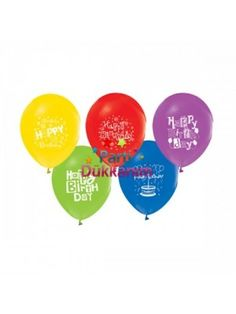 Happy Birthday Balonları (20 Adet Renkli)