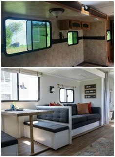 Makeover Reveal – Sawdust 2 Stitches R. Makeover Reveal – Sawdust 2 Stitches,Creativ home designs Related Camping Hacks that will forever change the way you camp - Genius Ways to Make. Camper Interior, Diy Camper, Rv Interior Remodel, Interior Walls, Camper Life, Camper Ideas, Rv Life, Kombi Motorhome, Hymer Motorhome