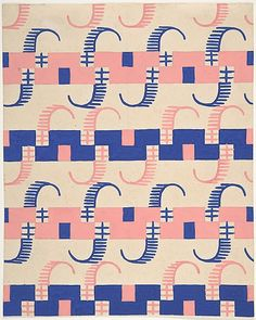 Fabric Design with Stripes, Attributed to Paul Poiret ca. 1918–25. Gouache and stencil over graphite