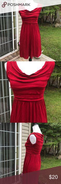 Max Studio small red tshirt sleeveless dress Max Studio size small red dress. Tshirt material with layered tiers around bodice. Max Studio Dresses