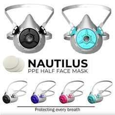 Pre-order the Nautilus PPE Half Face Mask with Removable Filters. It is fully washable and traps water droplets. Available end May 2019. Do not miss out on this revolutionary mask. All Scuba Divers, construction workers and just about everyone will love this mask! Specifically developed for South Africa. Only R 149.95 We have developed specific filters for this mask that includes a non-woven spunbond filter, a Double Bonded Polyester filter as well as a cotton filter. Half Face Mask, Water Droplets, Cotton Pads, Nautilus, Mask Design, South Africa, Filters, Construction, Poster