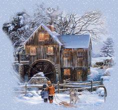 GIFS HERMOSOS: paisajes navideños encontrados en la web