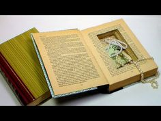 How To Make a Book Safe Turn an old book into a sneaky place to hide money or treasures. You could also use it for letter-boxing or geocashing in an indoor s. Diy Arts And Crafts, Book Crafts, Fun Crafts, The Frugal Crafter, Book Safe, Easy Youtube, School Fundraisers, Book Projects, History Books