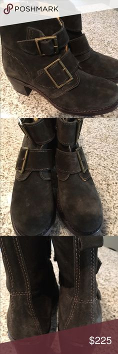 Frye Sabrina double buckle fatigue suede boots 8.5 Brand new without box. Rare hard to find color called fatigue oiled suede. Size 8.5 no trades. Please use the offer button or I will not respond Frye Shoes Combat & Moto Boots