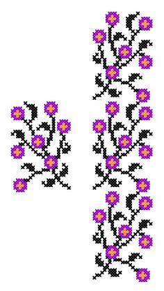 FL303A | www.binecusut.ro | Flickr Flower Sketches, Halloween Disfraces, Stitch 2, Cross Stitch Patterns, Needlework, Projects To Try, Embroidery, Knitting, Crochet