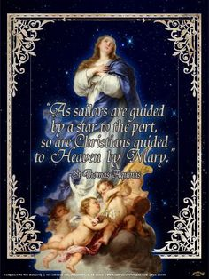 """As sailors are guided by a star to the port, so are Christians guided to Heaven by Mary."" - St Thomas Aquinas"
