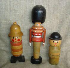 Vintage Czech Czechloslovakia Wooden Toy Figurine Doll Bobby
