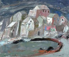 Storm in a Corsican Village (Erbalunga) byAnne Redpath