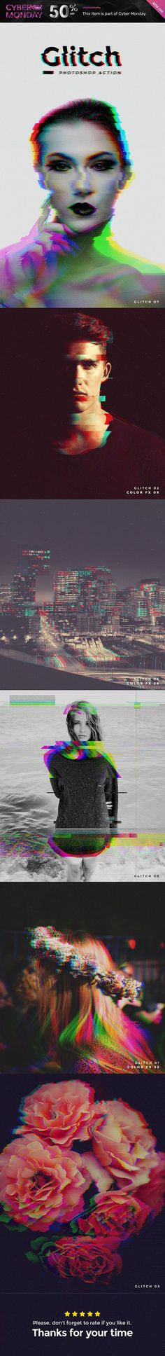Glitch Photoshop Action — Photoshop ATN #broken #rgb • Available here → https://graphicriver.net/item/glitch-photoshop-action/19144570?ref=pxcr