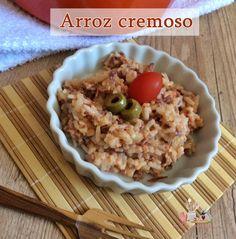 Arroz cremoso / Aproveitando as sobras de arroz.