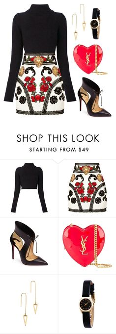 Untitled #121 by tazkiasaras liked on Polyvore featuring Balmain, Dolce&Gabbana, Christian Louboutin, Yves Saint Laurent, Rebecca Minkoff and Marc by Marc Jacobs hunting for limited offer,no duty and free shipping.#shoes #womenstyle #heels #womenheels #womenshoes #fashionheels #redheels #louboutin #louboutinheels #christanlouboutinshoes #louboutinworld