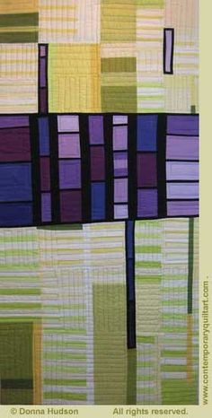 """""""Innovate, Inaugurate, Initiate #3"""" quilt by Donna Hudson"""