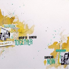 #papercraft #scrapbook #layout Let's play together... right now by punky_dee at @Studio_Calico
