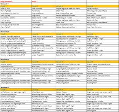 Jillian Michaels Body Revolution Phase 2 Checklist.pdf ...