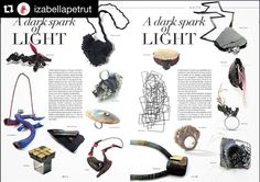 Another what's up with ... @izabellapetrut and her work for #ADarkSparkOfLight exhibition featured on @vicenza_jewellery magazine #contemporaryjewellery #joyeriacontemporanea #artjewelry #alchimia_alumni
