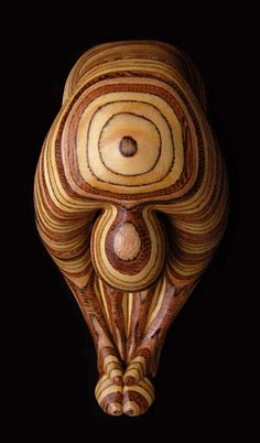 Paul Baden Sculpture carved from veneered wood. This is how beautiful the grains in plywood can be.
