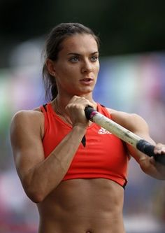 I'd rather aspire to be like her than any model. Pole vaulter. Helena Isinbayeva