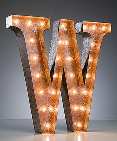 Look at this 24'' W Vintage Marquee Light on #zulily today!