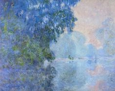 Morning on the Seine 02, 1896  Claude Monet