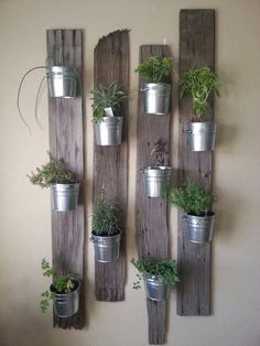 Easy peasy herb planter. It will be natural and green decorative touch to your living space.
