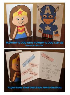 """Mother's Day and Father's Day Cards.  Parents are unsung super heroes.  Make them feel """"super"""" special this year!"""