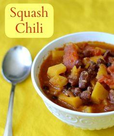 Squash Chili | Real Food Real Deals #healthy #recipe #vegan