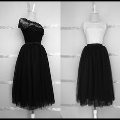 New Women's Tulle skirt size S-M Black Tulle skirt Tulle Skirts