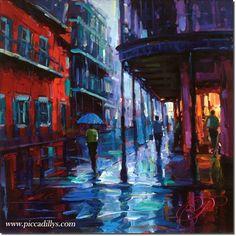 Bourbon Street 20 x 20 Fine Art Limited Edition By Michael Flohr Art Paintings For Sale, Bourbon Street, You Draw, Fine Art, Amazing Art, Framed Art, Gabriel, Original Art, Art Gallery