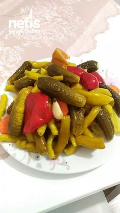 Sauce Recipes, Cooking Recipes, Mixed Pickle, Good Food, Yummy Food, Turkish Recipes, Snacks, Food Pictures, Pickles
