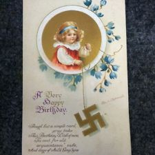 vintage Happy Birthday nazi card (newyork Berlin Printed In Germany)  OMG!  Can you believe someone sent this card??
