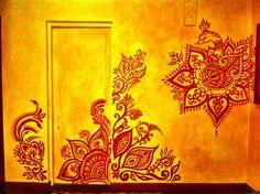 #murals #interiors #wallart #homes #mehndi Mural by Mary Kearns www.theeyeofhenna.com