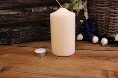 Κεριά Κυλινδρικά Εκρού Φ8x15εκ Pillar Candles, Taper Candles