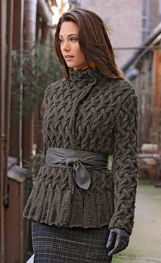 Gorgeous cable jacket, though skip the belt.