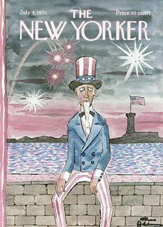 The New Yorker - Saturday, July 1970 - Issue # 2368 - Vol. 46 - N° 20 - Cover by Charles Addams The New Yorker, New Yorker Covers, Charles Addams, Vintage Illustration Art, Magazine Art, Magazine Covers, Vintage Magazines, Art Pages, July 4th