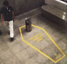 """Designated smokers area"" ~ by Singapore Cancer Society"