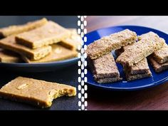 Healthy Food Videos - 6 Healthy Protein Bars For Weight Loss Healthy Protein Bars, High Protein Bars, Protein Bar Recipes, Protein Cake, Protein Foods, Healthy Snacks, Protein Muffins, Protein Cookies, Healthy Breakfasts