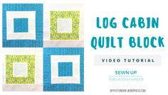 Video tutorial: Log cabin - quick and easy quilt block. Bento box...does not match picture