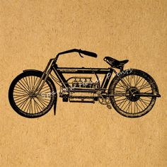 Vintage Motorcycle Artwork Home Decor by SparrowHousePrints