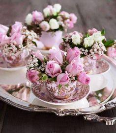 Teacups Of Flowers